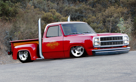 79' Dodge Little Red Truck - shopped By rubrduk by rubrduk