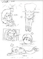 More Teruko Swimming Doodles 'Cuz D'aww~ by Son-Void
