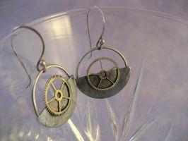 Dieselpunk earrings by rivenwanderer