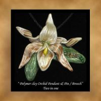 Pin Pendant Orchid by KabiDesigns
