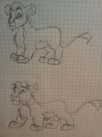 Ahadi and Uru as Cubs by Chan98