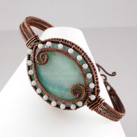 Copper and Amazonite Bracelet by sylva