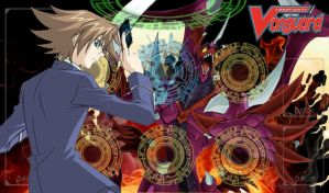 Cardfight!! Vanguard Mat Design - Kai Toshiki by DragonTamer256