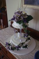 floral wedding cake 2 by nlpassions