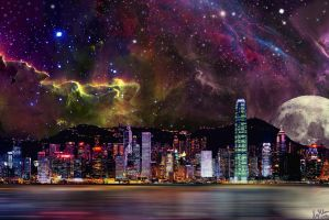 City Scape Hong Kong by Nimily