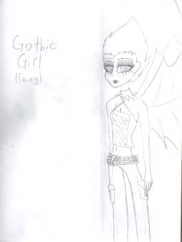 Gothic Fairy Girl by NanaxBennet