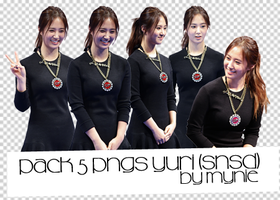 Pack 5 PNGS Yuri(SNSD) by Mynie by bttmy