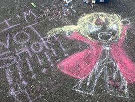 Chibi Ed in chalk. :3 by Phantomhivelen