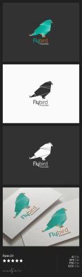 Origami Bird Logo by madjarov