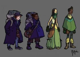 Spirits and Sparks Characters by portablecity