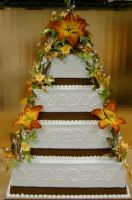 Fall themed wedding cake by The-EvIl-Plankton