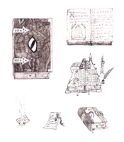 Book sketches by Konsumo