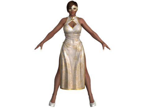 DOA5 LR Lisa Alluring Mandarin dress by zareef