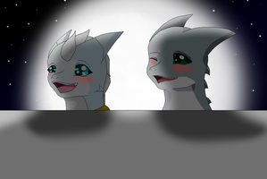 LizXfrancis smile in the moonlight by HeroHeart001