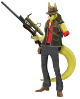 Team Furtress - RED Sniper by AcheronTheFox