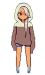 Spring Pixel Girl by tadpolily