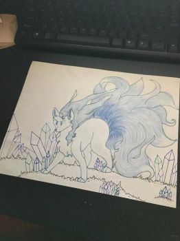 Dat Icey Ninetails by Ms-Dawn