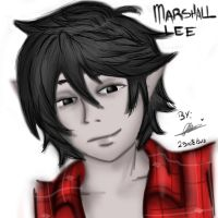 Marshall lee (practice) by ruzovymonster