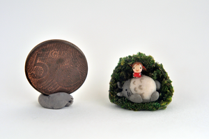 Totoro's Nap Miniature by wibblequibble