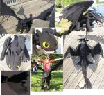 TOOTHLESS 5FT PLUSH by Monoyasha