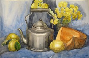 Kettle, pumpkin and quinces by Kaitana