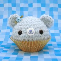 Blue Icing Cupcake Bear by amigurumikingdom