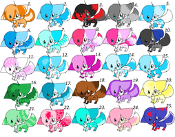 Adoptables 8 (closed) by pikachu0205