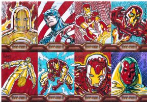 IRONMAN2 sketchcards by gammaknight