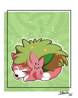 Sleeping Shaymin by xAshleyMx
