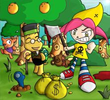 Animal Crossing Massacre by Sifty
