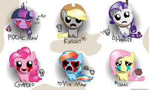 The Binding of Fluttershy (Isaac) - Monsters by FacelessSoles