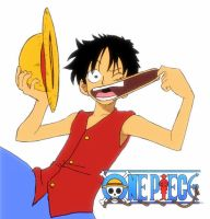 One Piece- Color Luffy by Eseyy