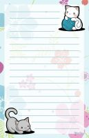 Kitties Stationery by melissah84