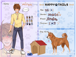 Happy Tails App- Mirae (updated) by kachi-kuu