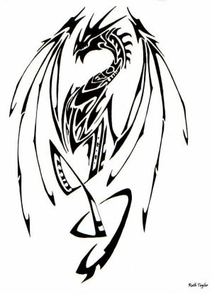 Japanese Tribal Dragon Tattoo Designs Picture 4