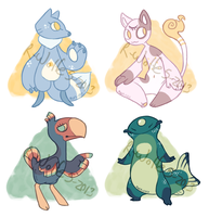 mini design adoptables [ALL SOLD] by VCR-WOLFE