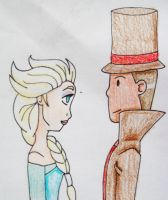 Elsa and Layton by Punisher2006