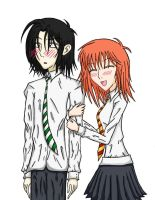 Severus Snape And Lily Evans by TheCoffeeFairyChan
