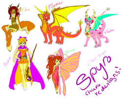 Spyro characters redesigned by Sakuyamon