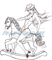 Rocking Horse Cowgirl by NicoleBrune