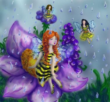 Bees Singing in the Rain--UCBUGG Visual Assignment by Vampiressartist