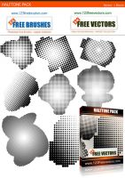 Free Halftone Vector Pack by 123freevectors