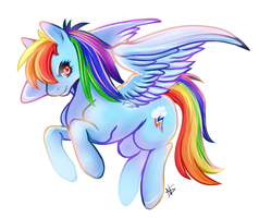 Rainbow-Dash by Naughty-Savage