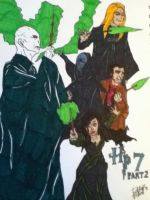 Voldemort and the Death Eaters by DAHalfblood