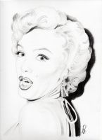 Marilyn Monroe Cheeky by Carriejanesart