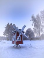 Windmill in Winter by FinJambo