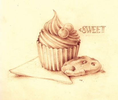 Cupcake and Cookies in Pencils by MVRH