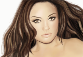 Mila Kunis Digital Portrait by laracremon