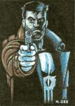 Punisher Sketch Card by mikegee777