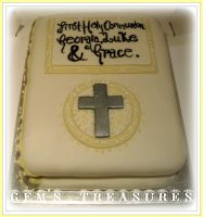 Communion Cake by gertygetsgangster